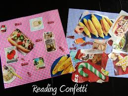picnic craft and books for kids reading confetti