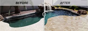 Backyard Renovations Before And After Swimming Pool Renovations Before And After Intheswim Pool Blog