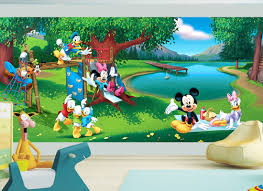 kids wall mural mickey mouse fotomurales arte kids wall mural mickey mouse