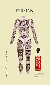 persian tattoo bodysuits
