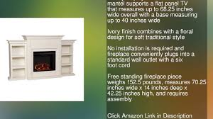 tennyson electric fireplace w bookcases ivory youtube