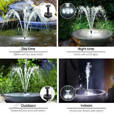 25w solar powered battery fountain outdoor fountains submersible