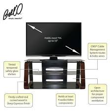 Bello Furniture Tv Stands Amp Audio Racks At Dynamic Home Decor Bello Curved Wood 55 Inch Tv Stand With Tinted Glass Deep Espresso