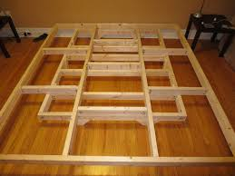 bed frames diy platform bed plans free custom floating frames