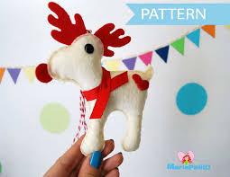 felt reindeer ornament sewing pattern a1095 the pattern hub