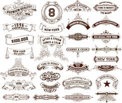 vintage ribbon vintage ribbons labels design graphics free vector in adobe