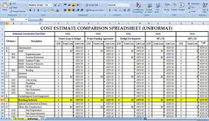 construction cost estimator free download construction project