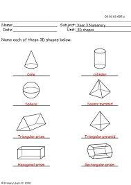 3d shape worksheets year 2 first grade math unit 17 geometry 2d