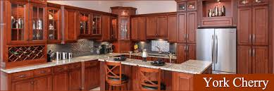Shaker Cherry Kitchen Cabinets J Mark Kitchen Cabinetry Wall Bridge York Cherry Rta Kitchen