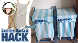 Make A Laundry Hamper by Cheap Laundry Baskets Hack Diy How To Youtube
