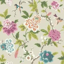 Wallpaper With Birds Cg28803 Birds Rose Garden 2 By Norwall Wallpaper The Home