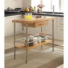 bamboo kitchen islands u0026 kitchen carts ebay