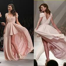 wedding dress miranda kerr miranda kerr hits the runway mexico city hi low prom gown evening