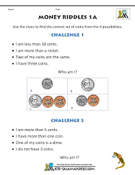 free math money worksheets 1st grade