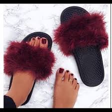 womens nike boots size 12 nike custom made fuzzy slides size 7 from s