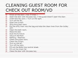 how to clean a room cleaning guest room pertemuan 5 ppt