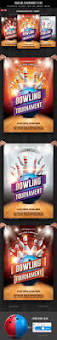 bowling tournament flyer flyer template template and fonts