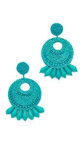 turquoise earrings kenneth seed bead hoop earrings shopbop