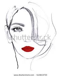 woman face sketch stock images royalty free images u0026 vectors