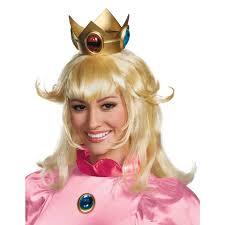 mario brothers halloween costumes buy super mario bros princess peach wig