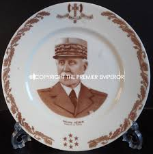 Vichy France Flag France Vichy U0027limoges U0027 China Plate Of Philippe Petain Marechal Of