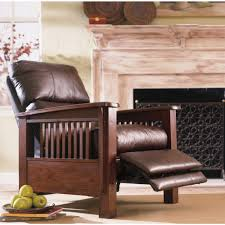 leather and wood recliner rec room pinterest recliner woods