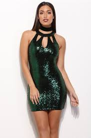 final sale alison hunter green sequin dress