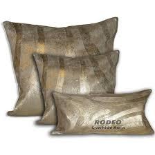 Metallic Cowhide Pillow Cowhide Pillows U2013 Tagged