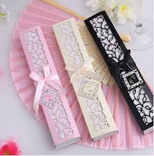 wedding fan favors free shipping 100pcs luxurious silk fan wedding gifts novelty