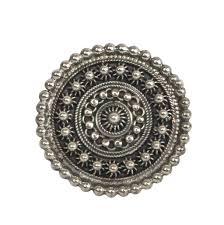 big silver rings images Oxidized granular work big silver ring jpg