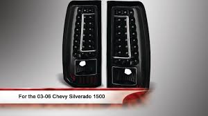 2005 gmc sierra tail lights 03 06 chevy silverado 1500 2500 and 3500 c shape led tail lights