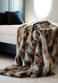 Faux Fur Throw Blanket Limited Production Design Luxurious Lemur Faux Fur Throw 86 X
