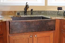 Kitchen Sink Furniture Beautiful Hand Hammered 14 Gauge Copper Farmhouse Kitchen Sink
