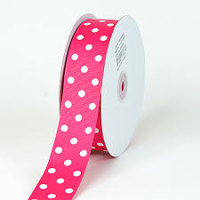 3 inch grosgrain ribbon grosgrain ribbon polka dot fuchsia with white dots width 3 8