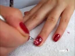 flower design on short nails nail art tutorial youtube