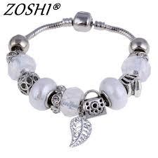 murano glass bangle bracelet images Zoshi silver charm bracelet bangle for female with white murano jpg
