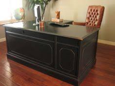 Chalk Paint Desk chalk painted vinatge executive desk gray u0026 cream chalk paint