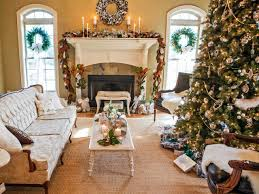 living room gold ornament christmas tree design ideas with round