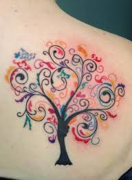 small colored tree tattoos family tree ideas for and