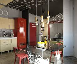 industrial theme 3 stylish modern homes with dark red accents