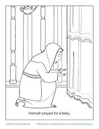 Hannah Prayed For A Baby Coloring Page Children S Bible Samuel Coloring Pages