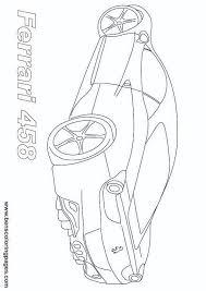 ferrari 458 sports car coloring backyard