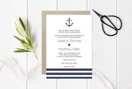 nautical wedding invitation editable pdf template u2013 diyprintable