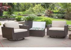 Resin Patio Furniture by 2 Piece Patio Set Outdoor Wicker Resin 3 Piece Patio Furniture Set