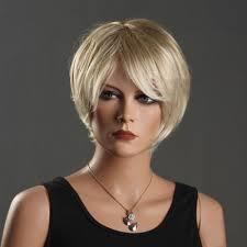 woman u0027s wig sunny blonde short curly hair fashion haircut