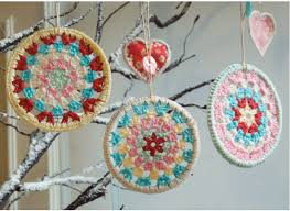 crochet ornament handmade tis the season