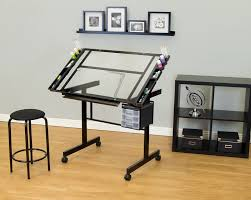 Desktop Drafting Table Studio Designs Vision 2 Piece Craft Station And Glass Drafting