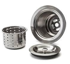 Kitchen Sink Drain Catcher by Fluxe 3 5 Inch Stainless Steel Deep Waste Basket Kitchen Sink