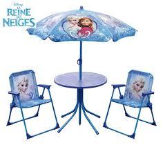 chambre de la reine des neiges reine des neiges set de jardin table 2 chaises 1 parasol