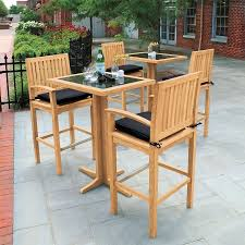 Granite Table Teak Dining Tables Foxhall Bar Table W Granite Top Country